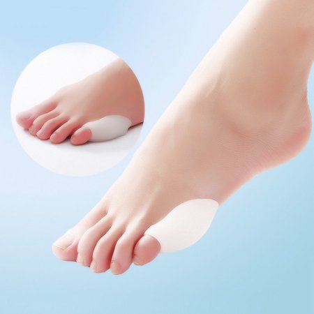 Little Toe Bunion Protectors Pads Feet Foot Pain Relief Corn Callus Latex Gel - image 6 de 9