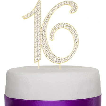 Sweet 16 Cake Topper 16th Birthday Silver Party Supplies