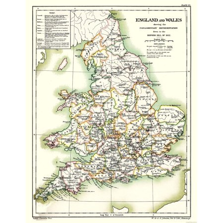 Poole England Map.International Map England And Wales Poole 1902 23 X 29 91
