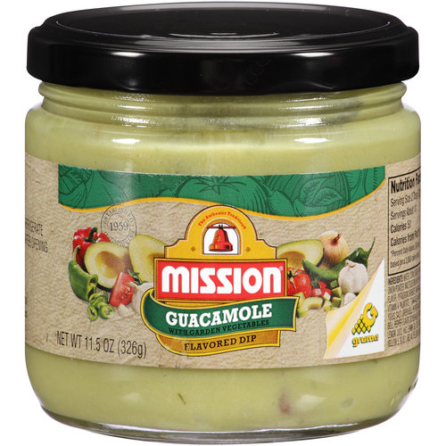 Mission Guacamole with Garden Vegetables Dip, 11.5 fl oz