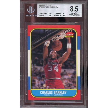 1986 87 Fleer  7 Charles Barkley 76Ers Rookie Card Bgs 8 5  8 5 8 9 5 9 5