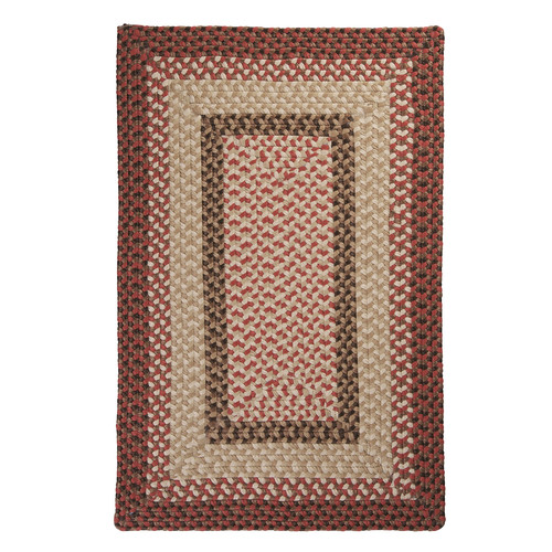 Colonial Mills Tiburon Rusted Rose Braided Indoor/Outdoor Area Rug