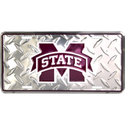 Mississippi State Diamond Embossed License Plate