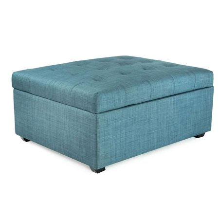 Marvelous Ibed Convertible Ottoman Guest Bed In Blue Fabric Cjindustries Chair Design For Home Cjindustriesco