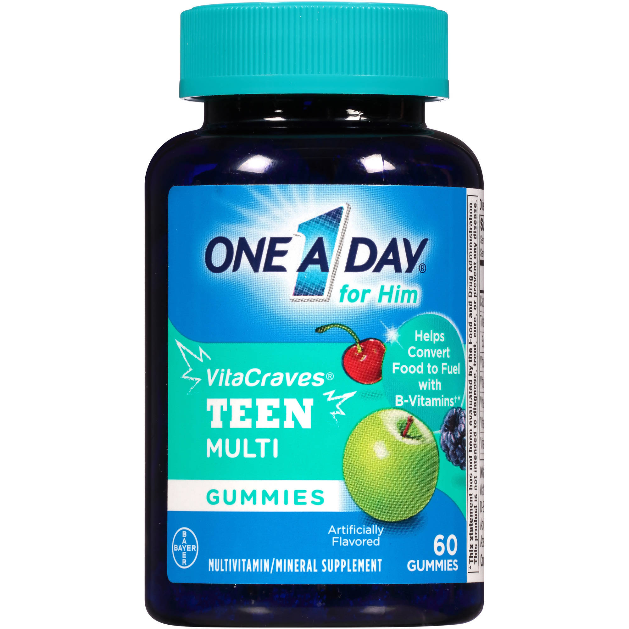 One a Day for HIm VitaCraves Teen Multivitamin/Mineral Supplement Gummies, 60 count