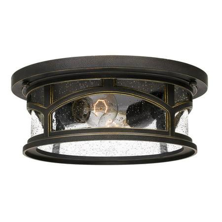 outdoor flush mount light oil rubbed bronze quoizel marblehead mbh1613 outdoor flush mount light walmartcom