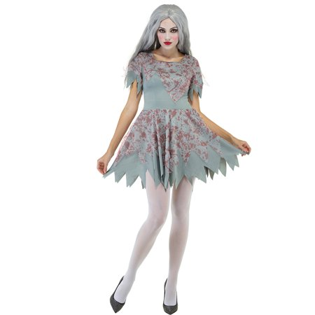 Zombie Outfits For Ladies (Bloody Women Dress Zombie Outfit Halloween Fancy Dress)