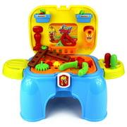 Velocity Toys My 1st Handy Man Children's Kid's Pretend Play Toy Work Shop Tool Set w/ Tools, Accessories