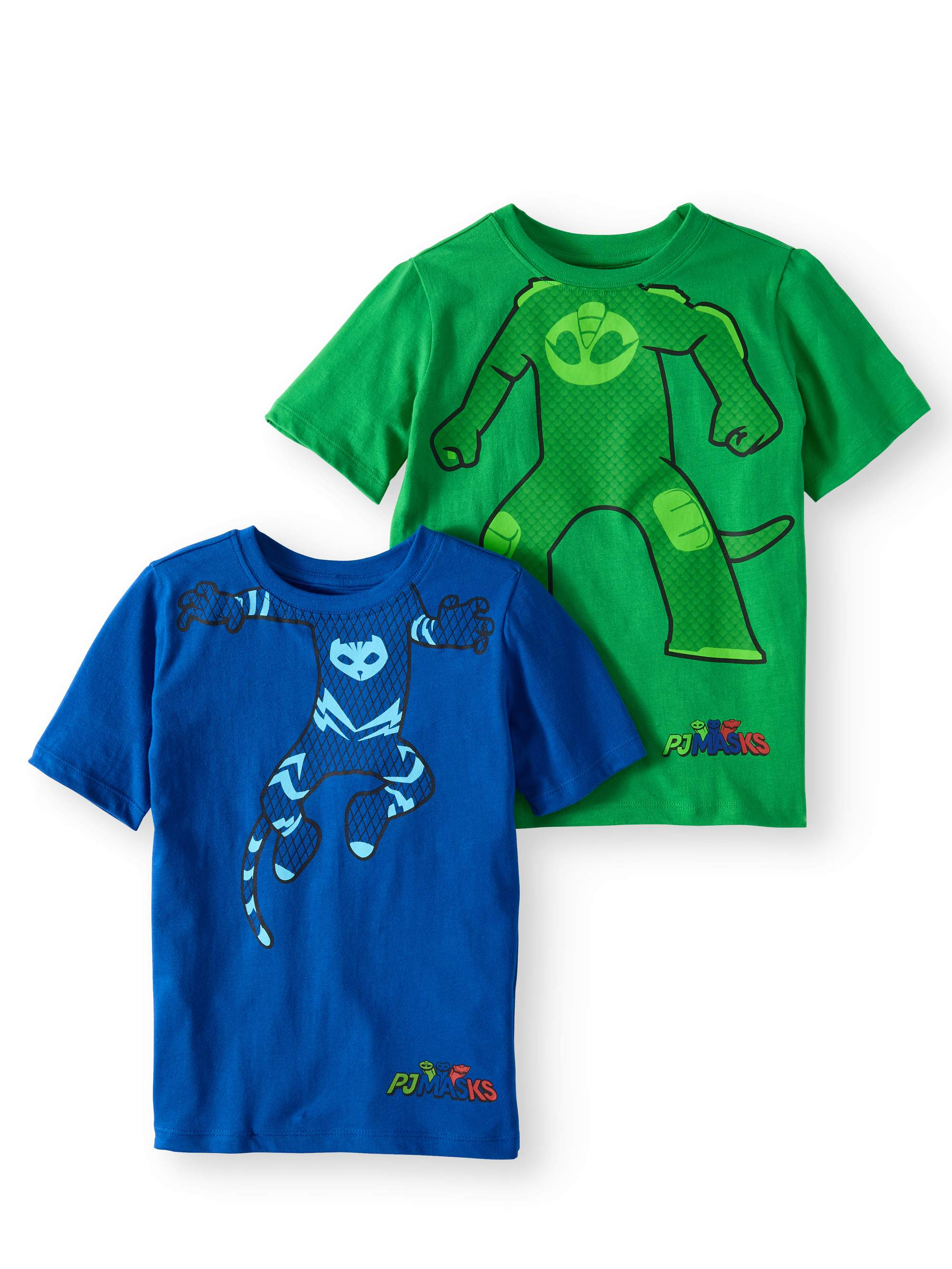 Boys' Cat Boy & Gekko Costume T-Shirt 2 Pack