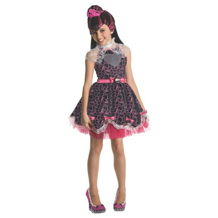 Halloween Monster High Deluxe Draculaura Child Costume (High School Musical Costume)