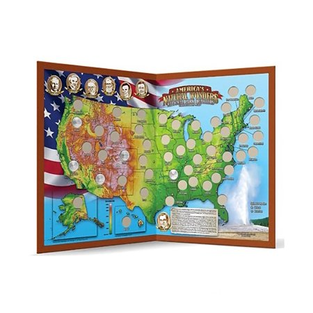 Americas Natural Wonders National Park Quarters Collection Map