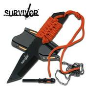 "Survivor Fixed Blade Knife 7"" Overall Orange. Hk762or Multi-Colored"