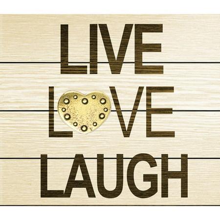 Live Laugh Love Italian (Metal Quotes: Live Love Laugh )
