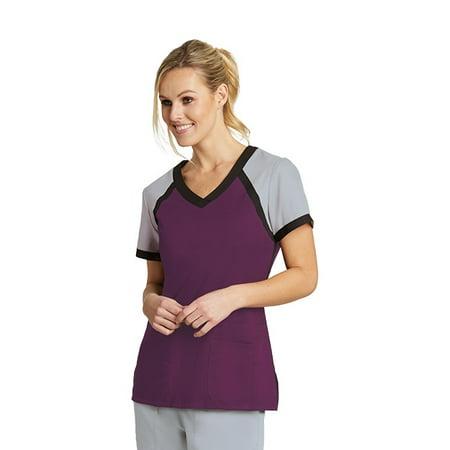 2962013ba17 GREY'S ACTIVE - Grey's Active Women's 3 Pockets Color Block V-Neck Top -  41435 - Walmart.com