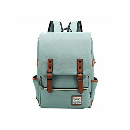 Generic - 7 Colors Unisex Fashion Vintage Canvas Backpacks Laptop Bag  Students School Backpack Travel Bags Satchels Travelling Camping For Men  Women Boys ... 231eb6540174c