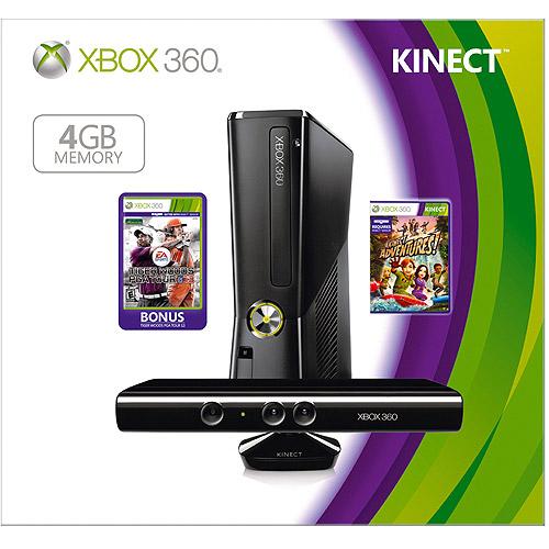 Xbox 360 4GB Kinect Tiger Woods Bundle