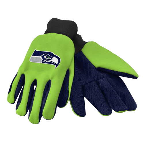 Seattle Seahawks Work / Utility Gloves  - NFL Licensed #74214