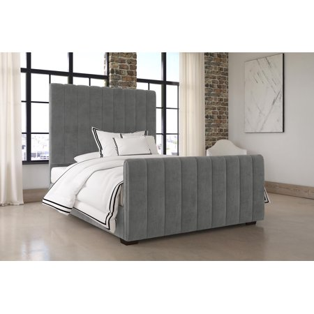 Incredible Dhp Dante Upholstered Platform Bed Grey Velvet Queen Squirreltailoven Fun Painted Chair Ideas Images Squirreltailovenorg