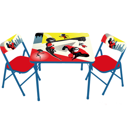 Incredibles 2 Erasable Activity Table and Chairs](Art Tables For Toddlers)