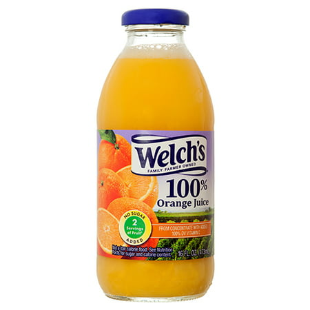 - New 355065  Welchs 100 16 Oz Orange Juice (12-Pack) Fruit Drink Cheap Wholesale Discount Bulk Beverages Fruit Drink Bud Vase