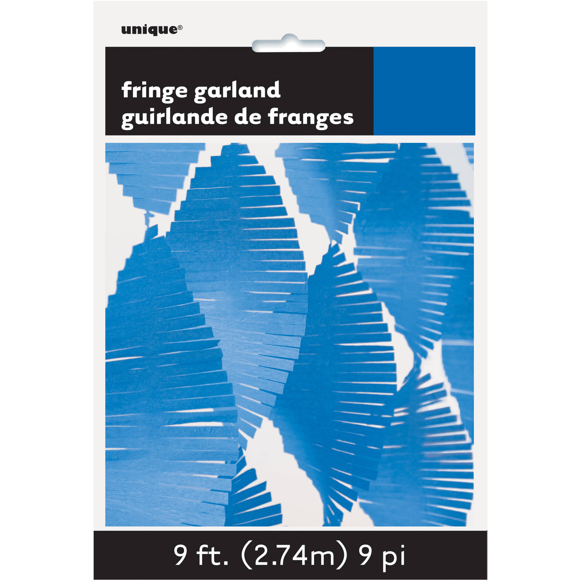 9ft Coral Tissue Paper Fringe Garland