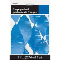 Tissue Paper Fringe Streamer Garland, 9ft, Royal Blue, 1ct