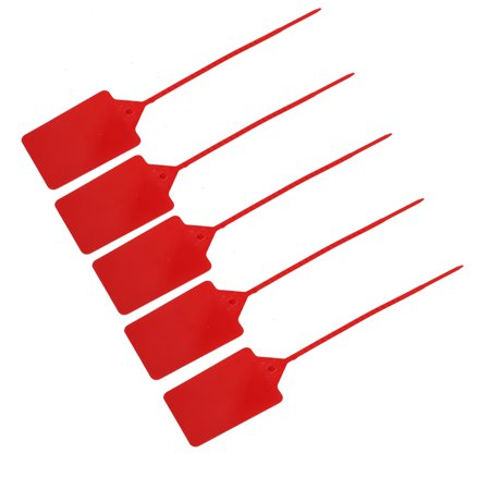 5pcs 410mm Long Nylon Self-Locking 110x80mm Label Marker Cable Tie Strap Zip Red - image 4 de 4