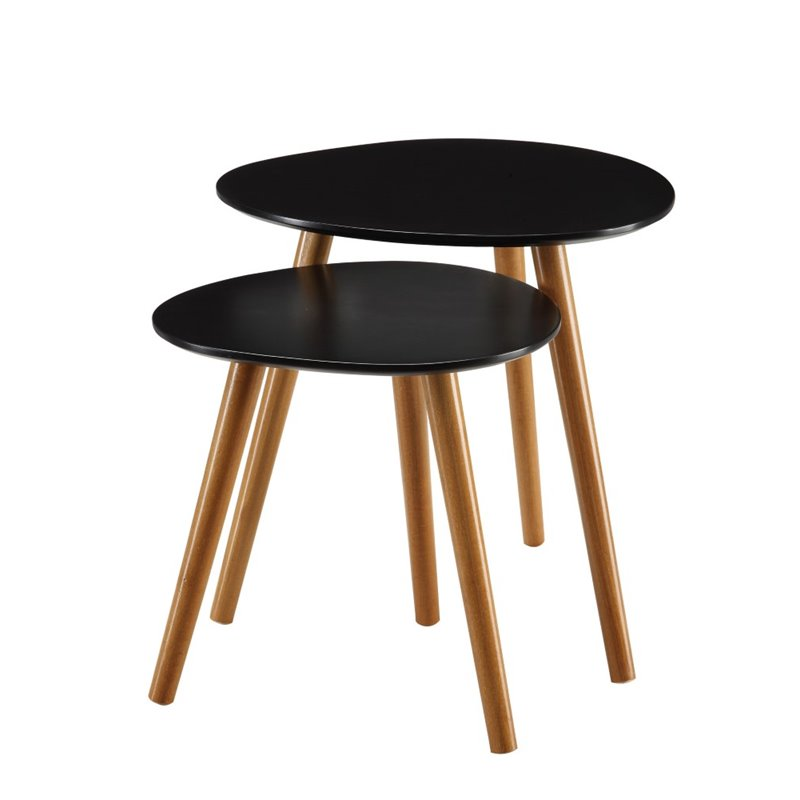 Pemberly Row 2 Piece Nesting Table Set in Black - image 1 de 3