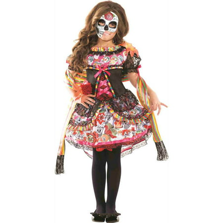 Fiestas Halloween Adultos (Day of the Dead Child Costume -)