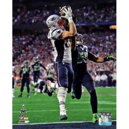 Rob Gronkowski Touchdown Super Bowl XLIX Sports Photo ()