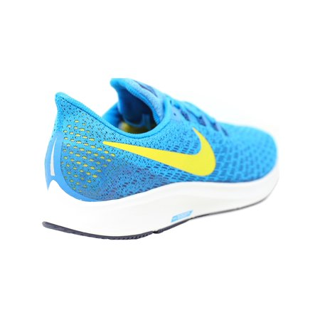 521be12f4eb Nike Men s Air Zoom Pegasus 35 Blue Orbit   Bright Citron Ankle-High Mesh  Running Shoe - 12M