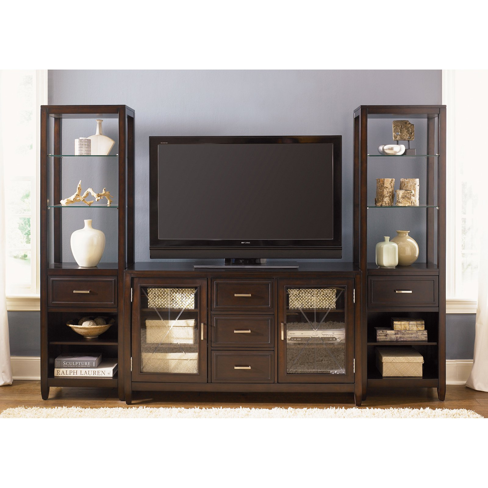 Caroline Entertainment Center with Piers - Espresso