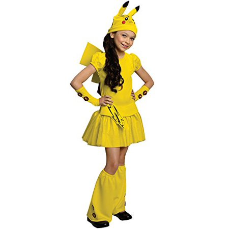 Pokemon Child's Pikachu Costume Dress, Medium - Pikachu Girl