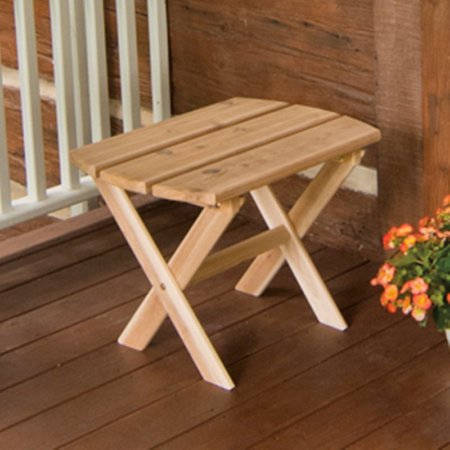 A & L Furniture Western Red Cedar Folding Oval End - Western Table