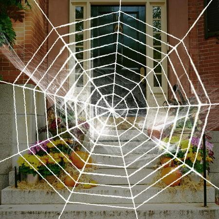 Halloween Decoration White Spider Web 9feet Fake Spooky Spider