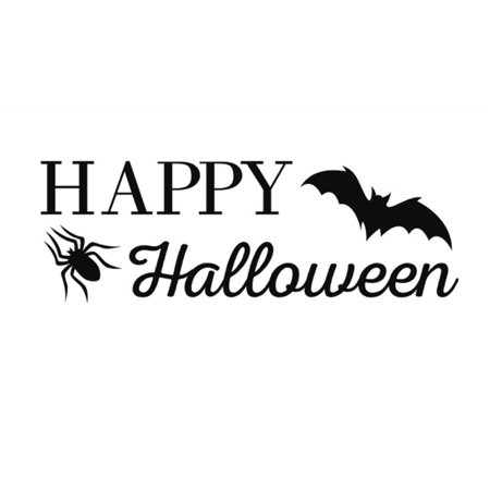 Fancyleo Halloween Bat Decal Wall Sticker Quotes EAT Drink and BE Scary for Living Room Home Party Vinyl Art