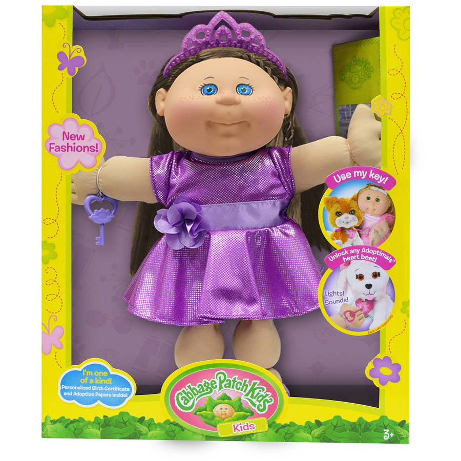 Cabbage Patch Kids Glitz Doll, Brown Hair Blue Eye Girl by Wicked Cool Toys