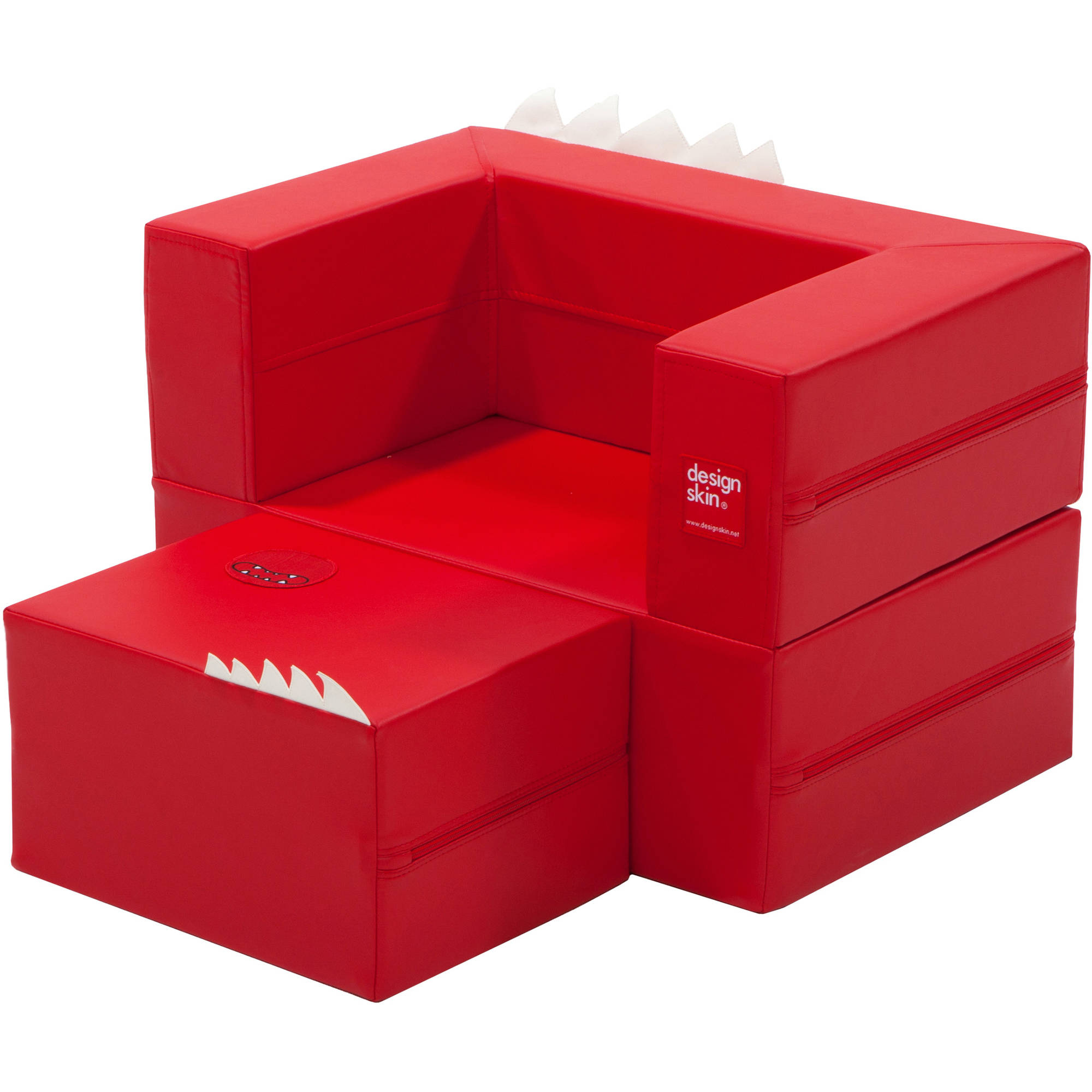 Cake Sofa Transformable Play Furniture for Kids, Red