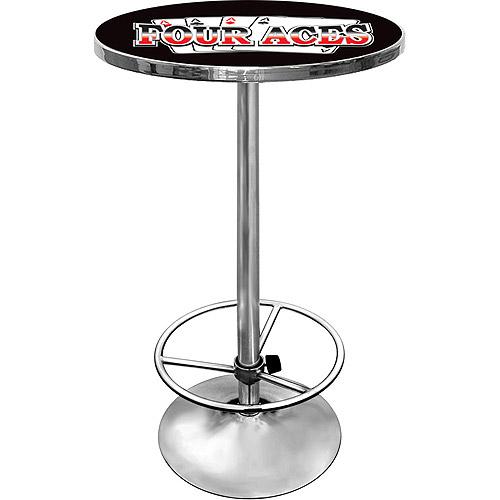 "Trademark Four Aces 42"" Pub Table, Chrome"