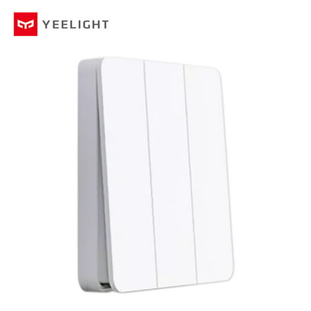 Yeelight Wirelessly Smarts Switch 16A Light Controller Compitable with Mijia Mi Home AC250V/16A Triple Button - image 1 de 7