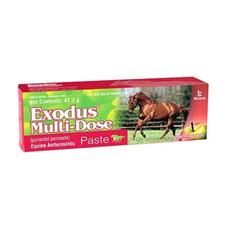 Multidose Equine Wormer Pyrantel Pamoate Paste for Horses, 47.2 grams, Used for treatment of internal parasites: large and small strongyles, bloodworms, pinworms.., By