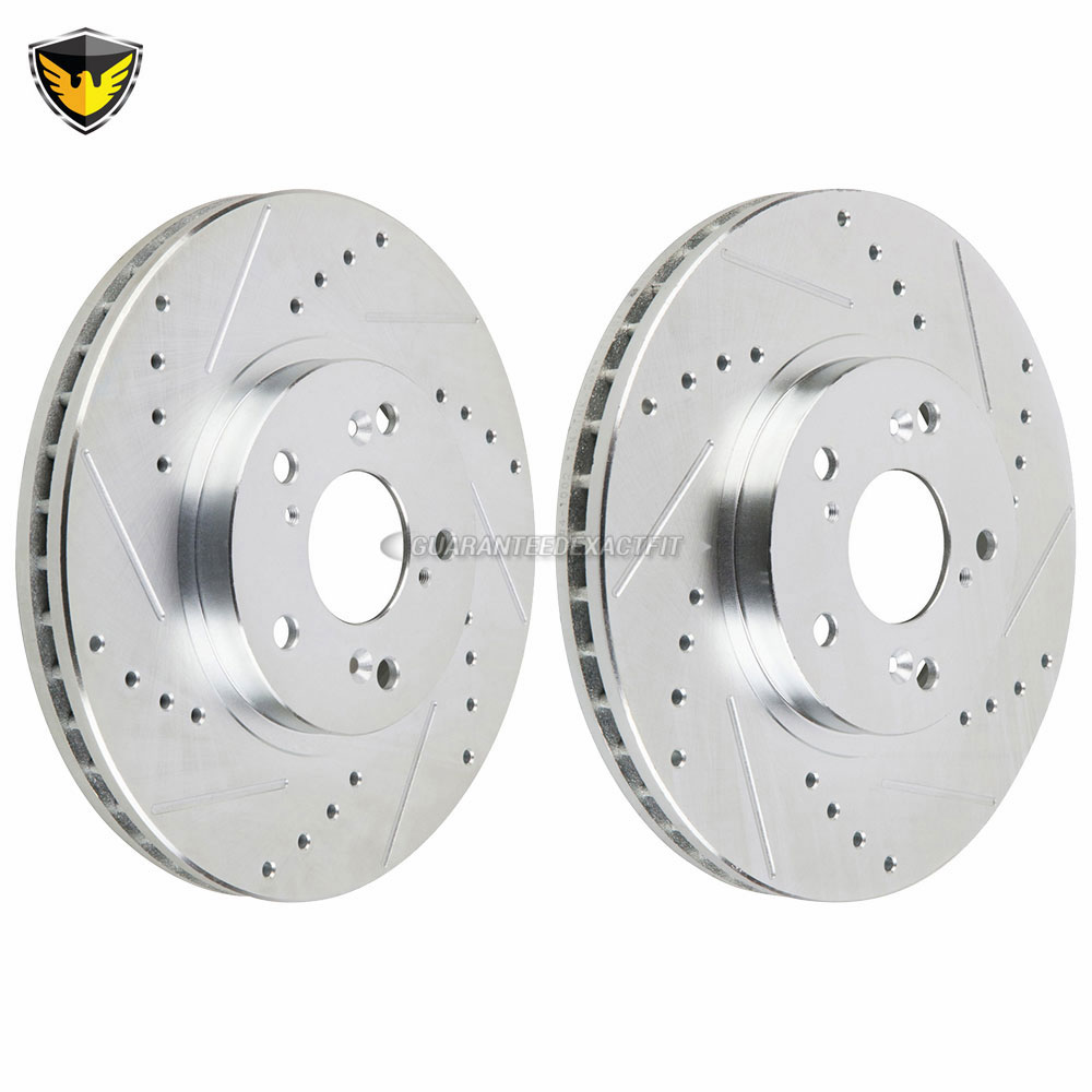 For Acura TL MDX CL Honda Accord Odyssey Set of 2 Front Disc Brake Rotors BREMBO
