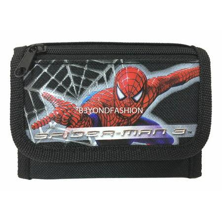 Spiderman Tri-fold Canvas Wallet