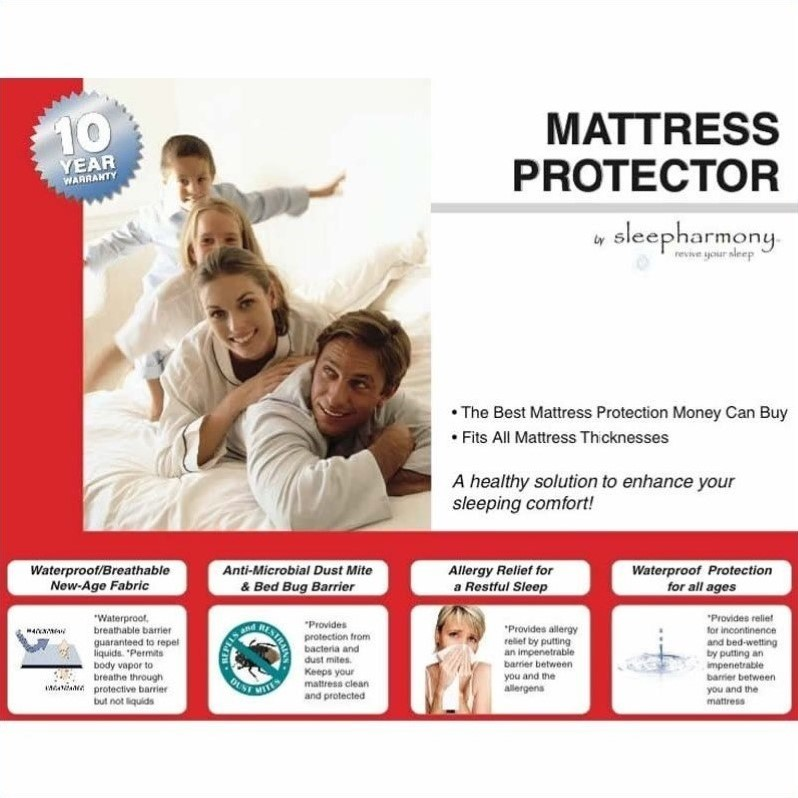 Atlantic Furniture Sleepharmony Mattress Protector-Twin