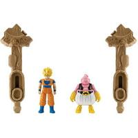 Dragon Ball Spin Battlers Series 1 Super Saiyan Goku Vs. Majin Buu Action Figure 2-Pack