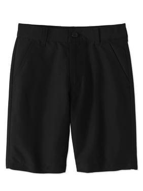 Wonder Nation Boys School Uniform Performance Shorts, Sizes 4-16