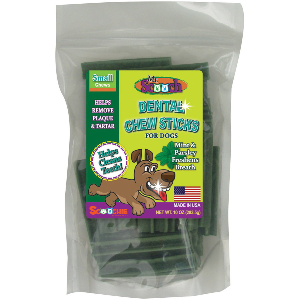 Mr. Scooch Dental Chews 10oz-Mint Small