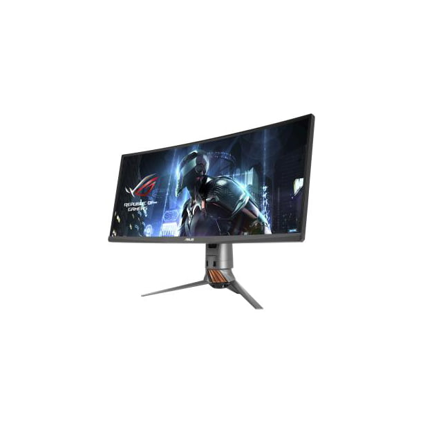 "ASUS ROG Swift 34"" PG348Q Curved Gaming Monitor, Ultra-Wide, 3440x1440, 100Hz, IPS, DisplayPort, USB, Eye Care, G-SYNC"