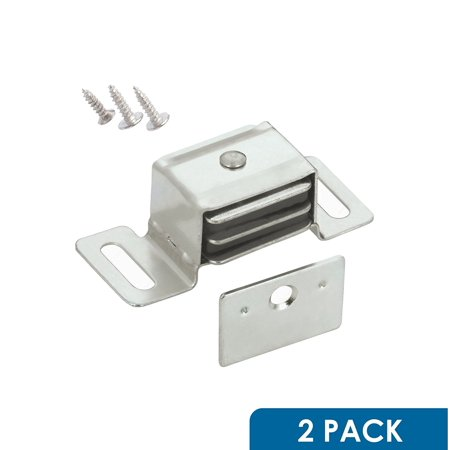 Double Closet Door - 2 Pack Hardware Double Side Strong Magnetic Catch Latch Cabinet Closet Drawer Doors, Magnetic Door Catch Latch Works Great On Many Kinds Of Doors Drawers Closets By Rok