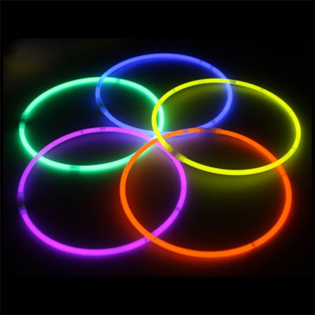"Exquisite 100 Pack of 22"" Glow Sticks Bulk Wholesale Necklaces Party Pack - 100 pcs Glow Sticks Neon Light Sticks Assorted Colors - 22 Inch Glow in the Dark - Glow Stick Necklace"